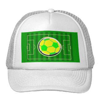 Campo del juego de fútbol gorra