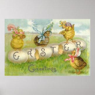 Campo del polluelo del huevo de Pascua Impresiones