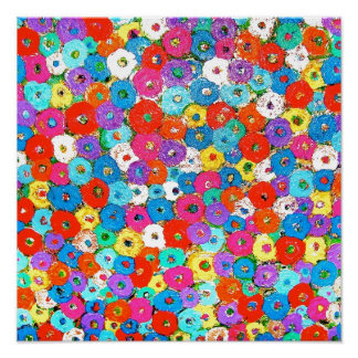 Campo del poster de las flores
