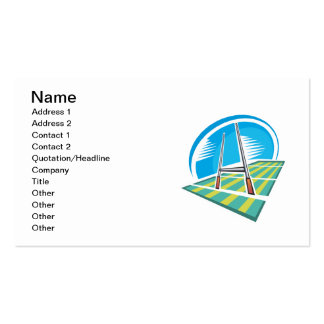 Campo del rugbi tarjeta de visita