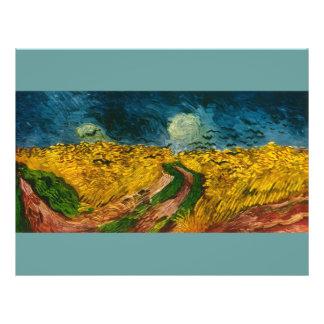 Campo del trigo de Vincent van Gogh con los cuervo Tarjetas Informativas