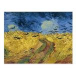 Campo del trigo de Vincent van Gogh con los cuervo Tarjetas Postales