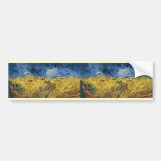 Campo del trigo de Vincent van Gogh con los Pegatina Para Auto