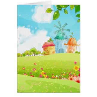 campo del verde tarjeta de felicitación