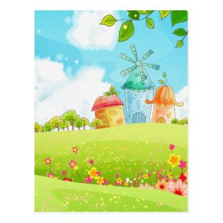 campo del verde tarjeta postal
