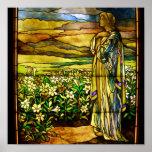 Campo del vintage del vitral de Tiffany de los lir Posters