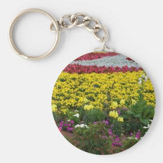 campo flowers1 llavero redondo tipo pin
