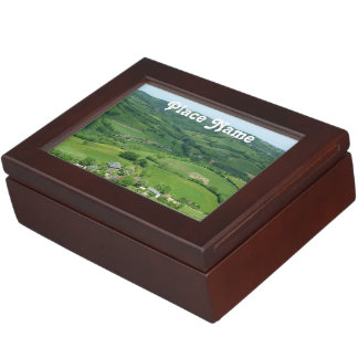Campo francés caja de recuerdos