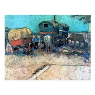 Campo gitano con el carro del caballo - Vincent va Postales