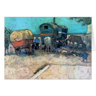 Campo gitano con el carro del caballo - Vincent va Tarjeta De Felicitación
