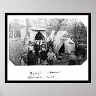 Campo gitano en Bethesda, MD 1888 Impresiones