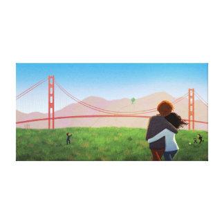 """Campo grande de Crissy """" del Golden Gate de San Fr Impresiones En Lienzo Estiradas"""