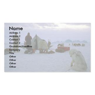 Campo groenlandés tarjetas de visita