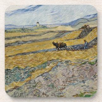 Campo incluido con el labrador de Vincent van Gogh Posavaso