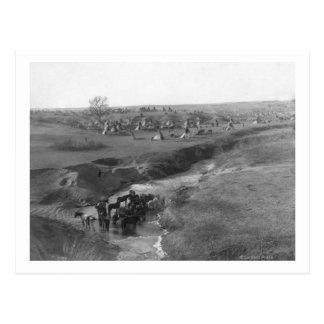 Campo indio de Lakota en la arcilla blanca Postales