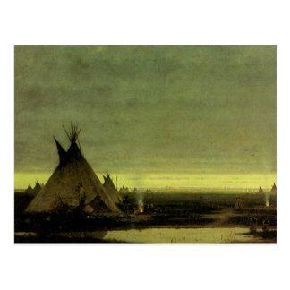 Campo indio en el amanecer de Julio Tavernier Postal
