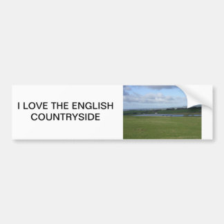 Campo inglés pegatina para auto