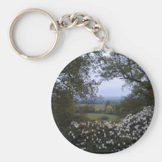 Campo inglés llavero redondo tipo pin