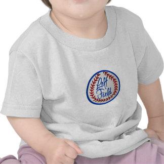 Campo izquierdo y béisbol camisetas