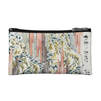 Campo japonés fresco de la montaña del ukiyo-e del