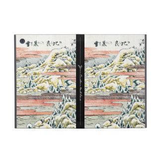 Campo japonés fresco de la montaña del ukiyo-e del iPad mini cobertura