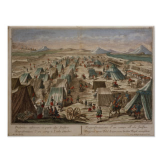 Campo militar, c.1780 posters