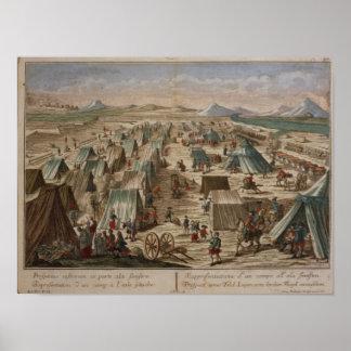 Campo militar, c.1780 póster