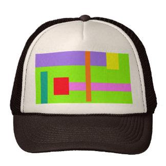 Campo mínimo simplista del verde del diseño gorros