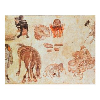 Campo nómada mongol, siglo XV Tarjetas Postales