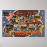 Campo Perry, Ohio - el lago Erie Poster