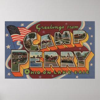Campo Perry, Ohio - el lago Erie Póster