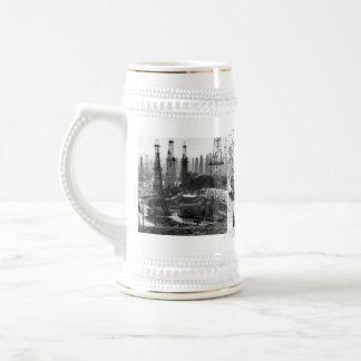 Campo petrolífero del vintage tazas de café