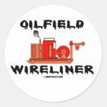 Campo petrolífero Wireliner, pegatina, campo Pegatina Redonda
