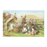 Campo pintado coloreado del huevo del conejito de  impresión en lona