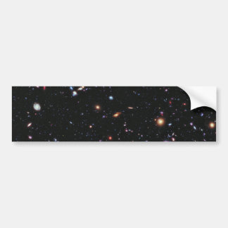 Campo profundo extremo de Hubble Pegatina De Parachoque