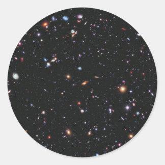 Campo profundo extremo de Hubble Pegatina Redonda