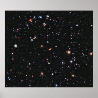 Campo profundo extremo de Hubble Póster
