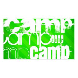 Campo; Rayas verdes de neón Tarjetas De Visita