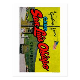 Campo San Luis Obispo, California Tarjeta Postal