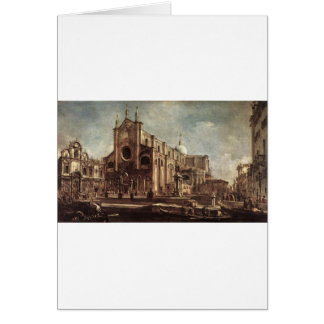 Campo Santi Giovanni e Paolo by Francesco Guardi Card