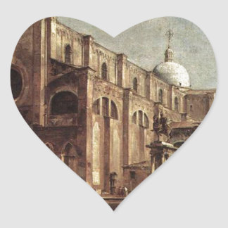 Campo Santi Giovanni e Paolo by Francesco Guardi Heart Sticker