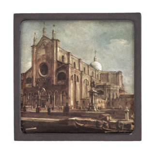 Campo Santi Giovanni e Paolo by Francesco Guardi Jewelry Box