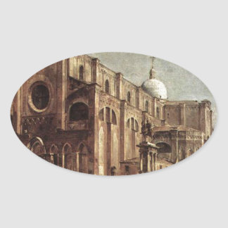 Campo Santi Giovanni e Paolo by Francesco Guardi Oval Sticker