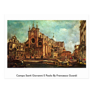 Campo Santi Giovanni E Paolo By Francesco Guardi Postcard