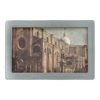 Campo Santi Giovanni e Paolo by Francesco Guardi Rectangular Belt Buckle