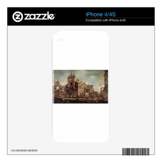 Campo Santi Giovanni e Paolo by Francesco Guardi Skins For iPhone 4