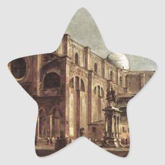 Campo Santi Giovanni e Paolo by Francesco Guardi Star Sticker