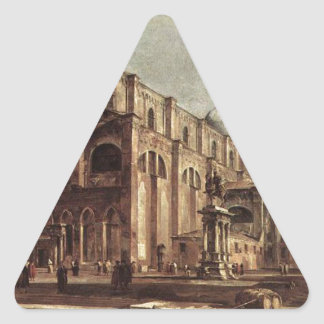 Campo Santi Giovanni e Paolo by Francesco Guardi Triangle Sticker