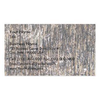 Campo seco de las cañas tarjeta de visita