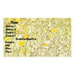 Campo simple de la tarjeta de visita de las flores